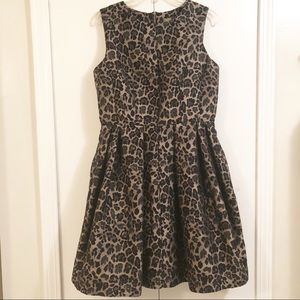Taylor Fit & Flare Black and Bronzetone Dress